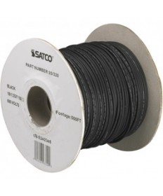 Satco 93/320 93-320 Satco Black 500' feet Lighting Wire Spool