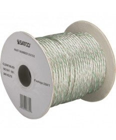 Satco 93/373 Satco Pulley Wire Spool, 18/3 SVT 105°C Pulley Cord, 250 Ft./Spool, Clear Silver, without green stripe