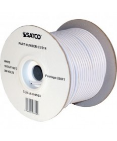 Satco 93/314 Satco 93-314 18/3 SJT 105C Pulley Cord 250FT White Spool Wire
