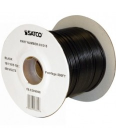 Satco 93/315 Satco 93-315 18/1 AWM 105C UL 1015 Wire Black 500FT Spool Wire