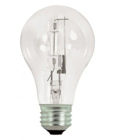 Satco S2404 Satco Light Bulbs 72A19/HAL/ES/CL/120V 2PK - 72 Watt Halogen - A19 - 120 Volt - E26 Medium Base - Clear - Light Bulb