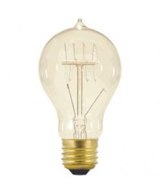 Satco S2411 Satco Light Bulbs 25A19/CL/120V - 25 Watt - Antique Vintage - Quad Loop - 120 Volt - Light Bulb