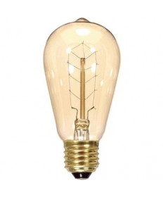 Satco S2414 Satco 40ST19/CLEAR/9S/120V VINTAGE E26 Hairpin 40W Antique Light Bulb