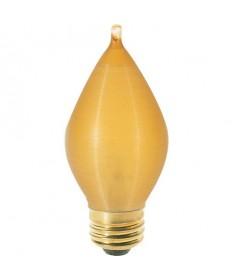 Satco S2716 40C15/A 40 Watt 120 Volt C15 Medium Base Amber