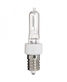Satco S3133 Satco 150Q/CL/E14 150 Watt 120 Volt T4.5 E14 European Base Clear Quartz JD Light Bulb