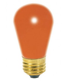 Satco S3964 Satco Light Bulbs 11S14/O 11-Watt - Orange - 130 Volt - S14 Medium Base - Ceramic Incandescent Light Bulb