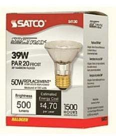 Satco S4130 39PAR20/HAL/XEN/FL/FR/120V Satco 39-Watt Excel PAR20 Soft Ray Frosted
