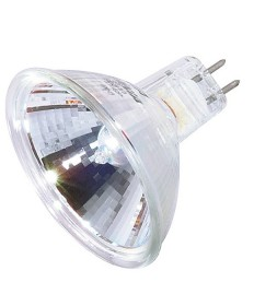 Satco S4365 35MR16/FL/C 35W 12V MR16 GX5.3 Flood Lensed Clear Halogen Bulb