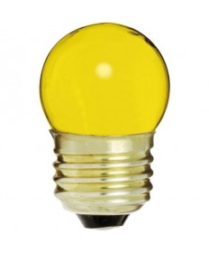 Satco S4512 Satco 7-1/2S11/Y 7.5 Watt 120 Volt S11 Medium Base Ceramic Yellow Incandescent Carded Light Bulb