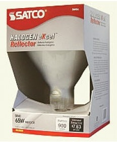 Satco S4516 65BR40/FL/HAL 120V Satco 65-Watt Frosted BR40 Halogen Bulb