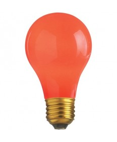 Satco S6090 Satco 25A/R 25 Watt 130 Volt A19 Ceramic Red E26 Medium Base Incandescent Light Bulb