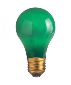 Satco S6091 Satco 25A/G 25 Watt 130 Volt A19 Medium Base Ceramic Green Incandescent Light Bulb