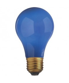 Satco S6092 Satco 25A/B 25 Watt 130 Volt A19 Medium Base Ceramic Blue Incandescent Light Bulb