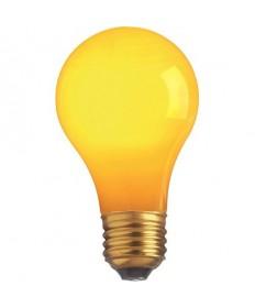 Satco S6093 Satco 25A/Y 25 Watt 130 Volt A19 Medium Base Ceramic Yellow Incandescent Light Bulb