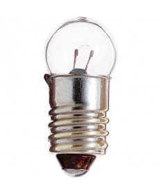 Satco S6937 Satco 0.77 Watt (0.15 Amp) 5.1 Volt G4.5 Miniature Screw Base Clear Miniature Light Bulb