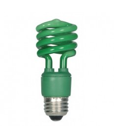 Satco S7272 Satco 13-Watt CFL Green