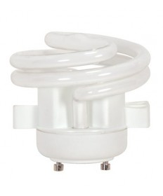 Satco S8227 Satco 13 Watt T-2 GU24 Base 2700K Squat Spiral Energy Star Certified 10000 Hour C.U.L. Listed Compact Fluorescent Light Bulb (CFL)