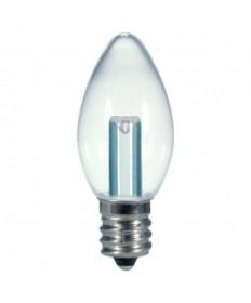Satco S9156 0.5W C7/CL/LED/120V/CD Satco 0.5-Watt C7 LED Bulb