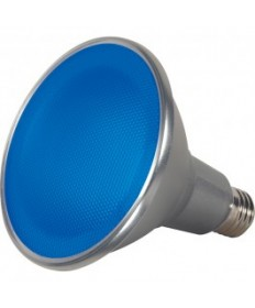 Satco S9482 15PAR38/LED/40/BLUE/120V/FL Satco 15-Watt PAR38 LED Blue 40 Degrees