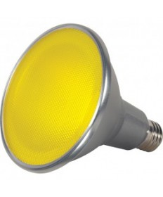 Satco S9484 15PAR38/LED/40/YELLOW/120V/FL Satco 15-Watt PAR38 LED Yellow 40 Degrees