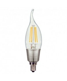 Satco S9574 4.5W CFC/LED/27K/120V Satco 4.5-Watt LED Candle 120-Volt