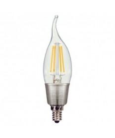 Satco S9574 4.5W CFC/LED/27K/120V Satco 4.5-Watt LED Candle 120-Volt