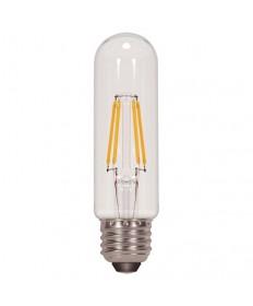 Satco S9580 4.5T10/LED/E26/27K/120V 4.5 Watt T10 LED Clear 120-Volt