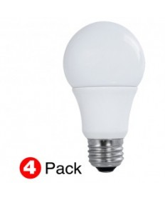 SATCO S29597 LED 60-Watt Equal A19 Natural Light Bulb(4Pack)