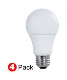 SATCO S29597 LED 60-Watt Equal A19 Natural Light Bulb(4Pack)