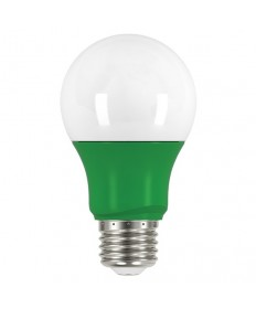 Satco S9643 2A19/LED/GREEN/120V Satco 2 Watt A19 LED Green