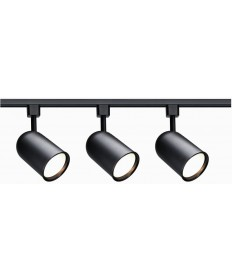 Nuvo Lighting TK323 Track Lighting Kit - Black - 3 Light Bullet Cylinder Head - R30 Incandescent Track Lighting kits - 120V Line Voltage Track Lighting Kits