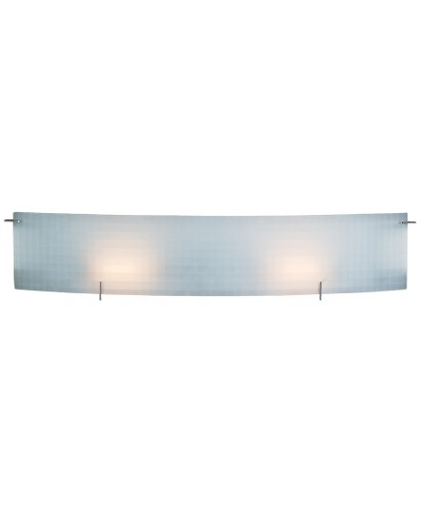 Access Lighting 62053 Ch Ckf Oxygen Checkered Frosted Wall Vanity